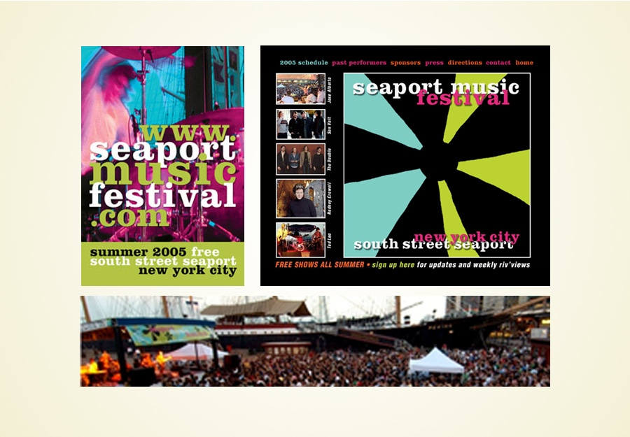 Seaport Music Festival identity