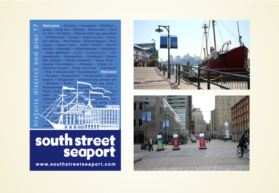South Street Seaport Signage