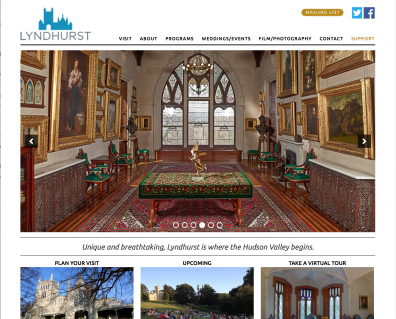 new website for Lyndhurst estate in Tarrytown. A beautiful destination.